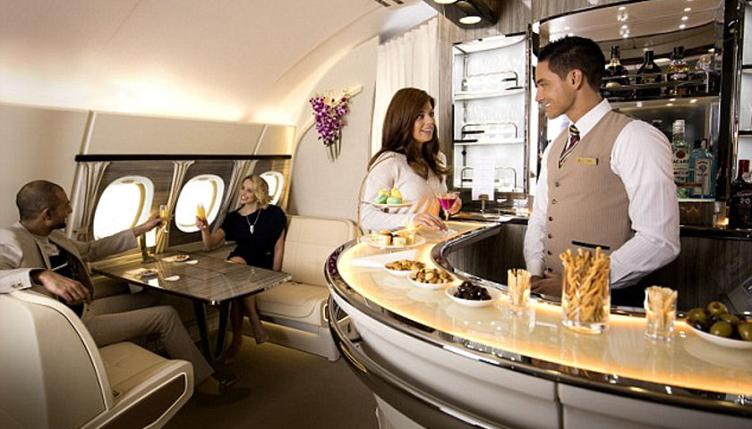 Emirates Unveils New A380 Onboard Lounge
