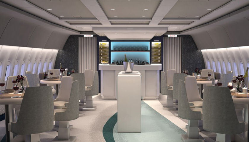Crystal Boeing 777 interior