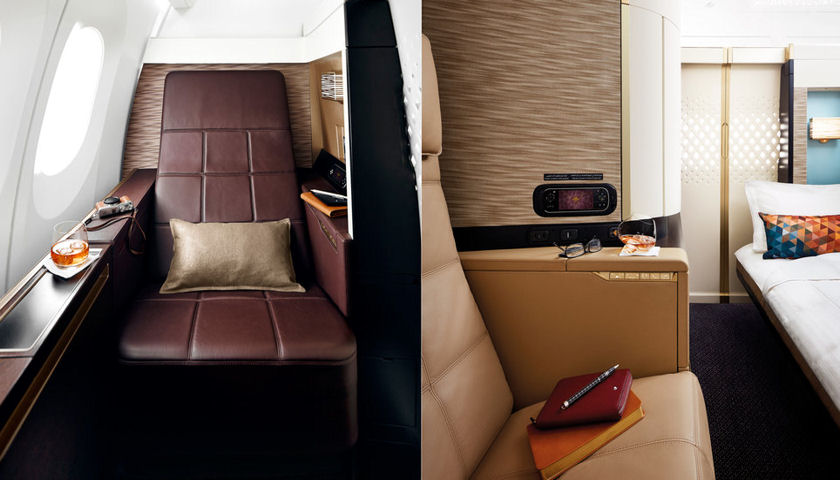 Etihad first class compartment