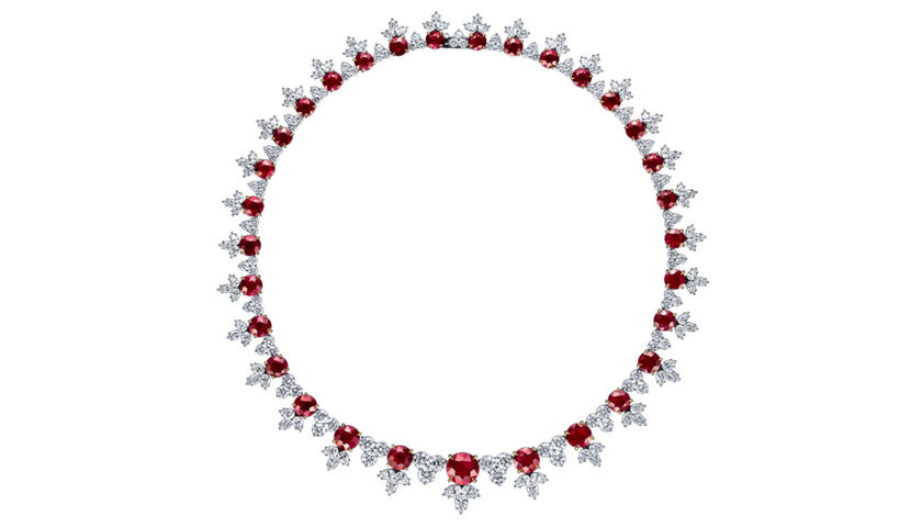 Harry Winston ruby necklace