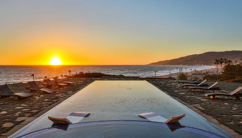 Malibu Mansion sunset ocean view