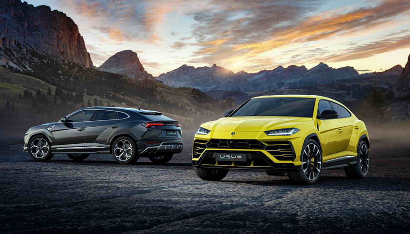 Lamborghini Urus SUV two colors