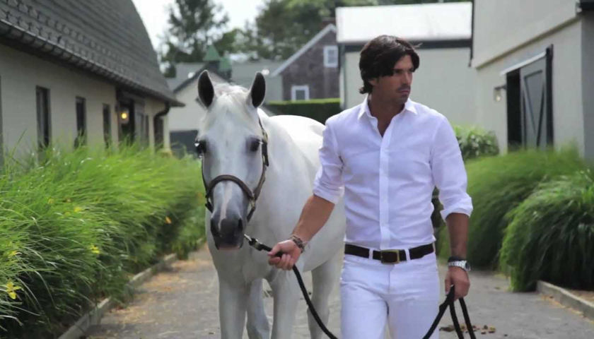 Nacho Figueras with white horse