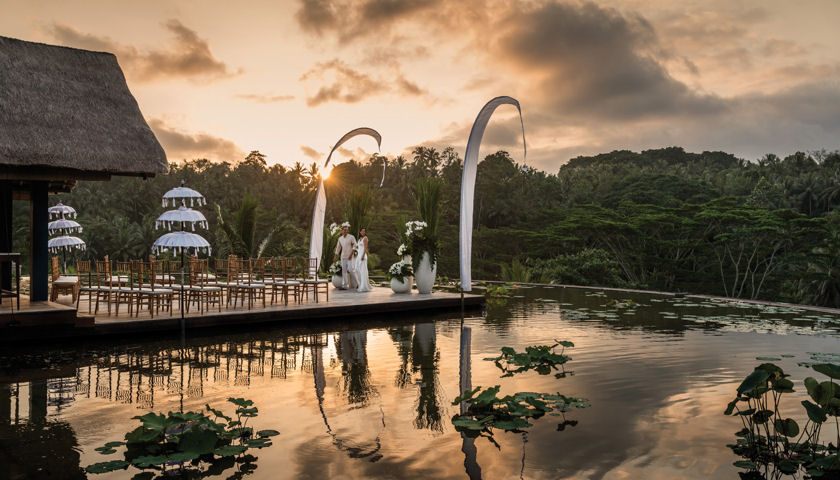 Bali's Longest Overwater Wedding Aisle at Four Seasons