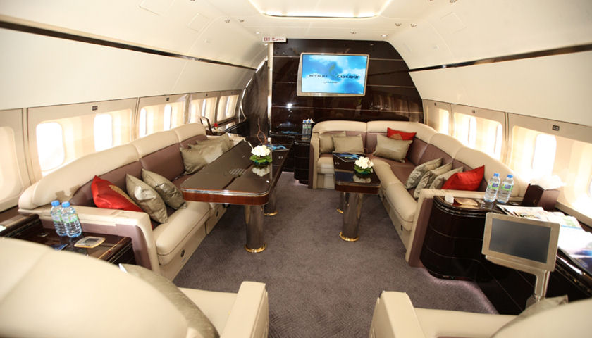 BBJ Boeing Business Jet cabin interior