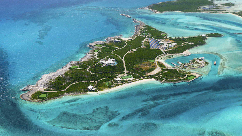 over yonder cay aerial view