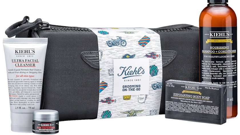 Kiehls Grooming on-the-go gift set