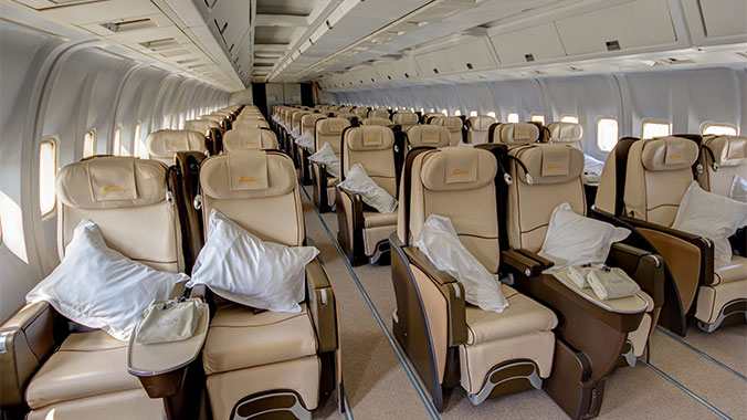 Road Scholars private jet interior