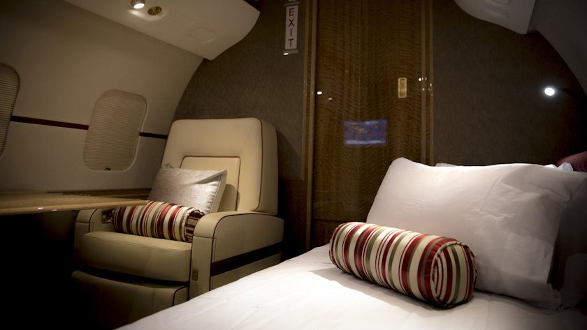 Bombardier Global 6000 bedroom