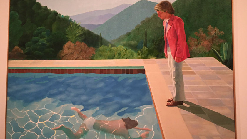 David Hockney Portrait of an Artist Pool