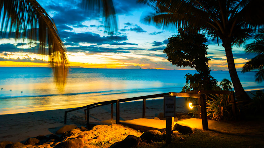 Fiji beach sunset