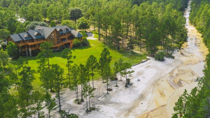 Florida log home