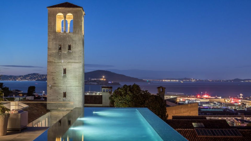 San Francisco's most expensive mansion pool