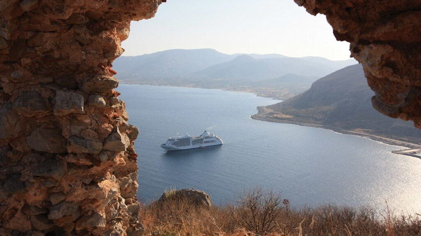 Silversea in Monemvasia Greece
