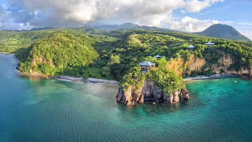 Secret Bay Dominica aerial